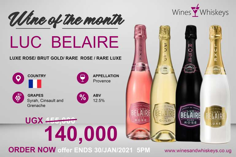Wine of the Month (JAN2021): LUC BELAIRE
