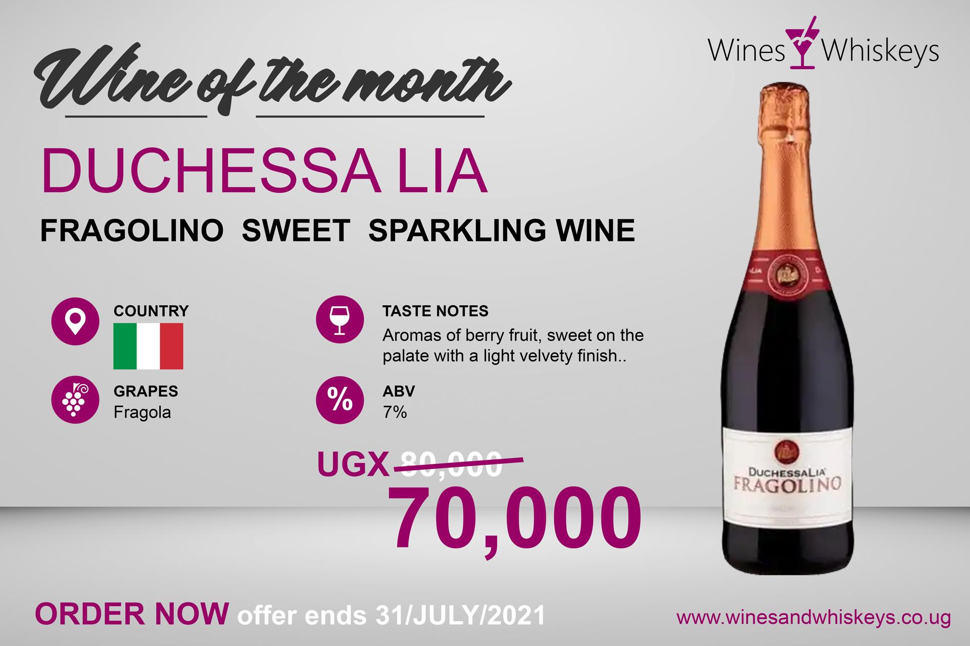 fragolino rosso sweet sparkling wine on sale uganda